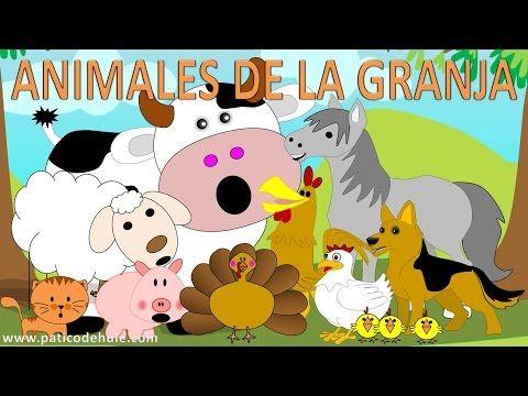 Animales de la granja para niños - sonidos de animales para niños - YouTube