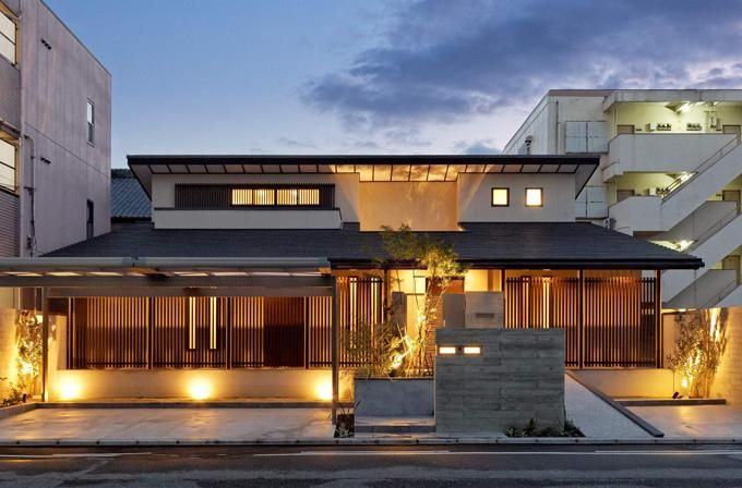 柔らかな風が通る連格子・モダン和風の家