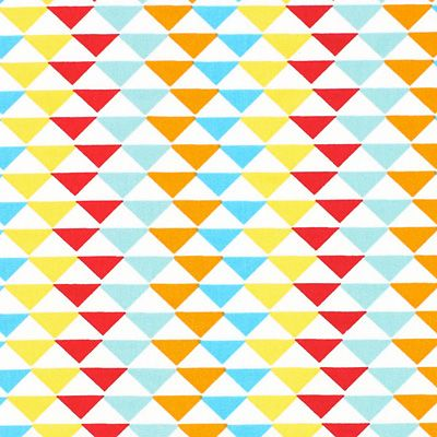 Bavlna Trojúhelníky 1 - Bavlna - barevny mix