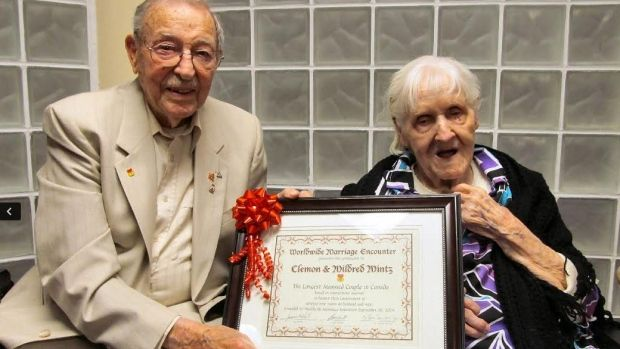 """I'm going to marry that girl!"" Today is a special day for Clem and Millie Mintz. The couple is celebrating their 80th year of marriage and have been recognized as having the longest marriage in Canada."