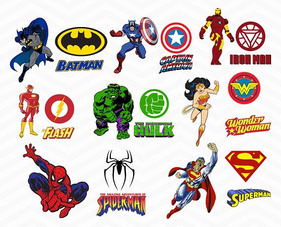 Superheroes Svg Superhero Eps Superhero Logo Svg Superhero Logo Clipart Super Hero Svg Cameo Files Svg Files Avengers Party Superhero Comic Logo Clipart