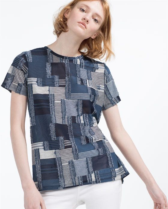Image 4 of PATCHWORK T-SHIRT from Zara