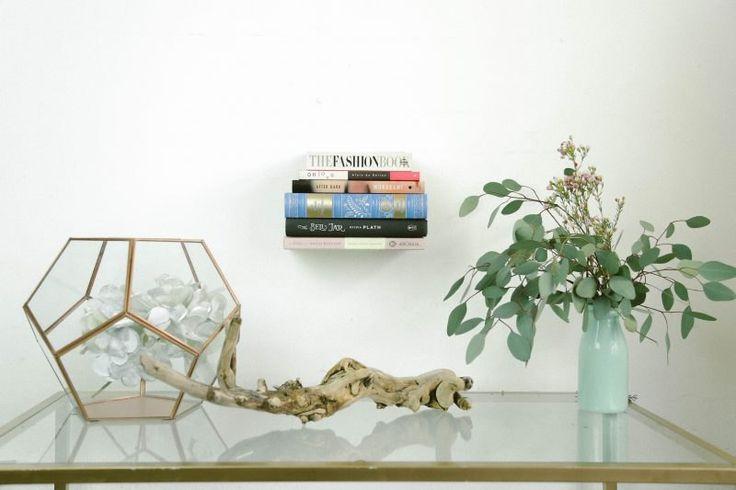 DIY Floating Bookshelf Upcycle