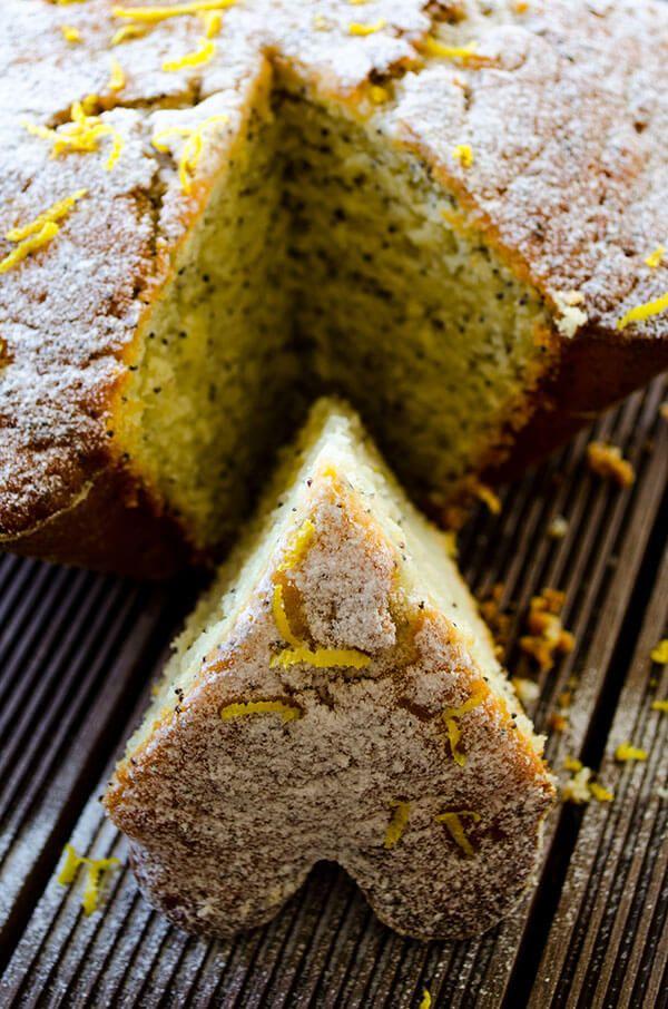 Lemon Poppy Seed Cake. An ice cream like lemon cake. So moist and full of lemon flavor! | giverecipe.com