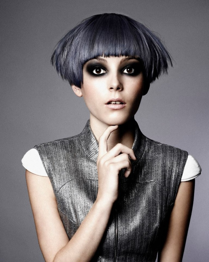 Super blueberry color :)     The Black Collection  Hair: Gooseberry Creative Team  Styling: Jared Green  Photo: Richard Miles