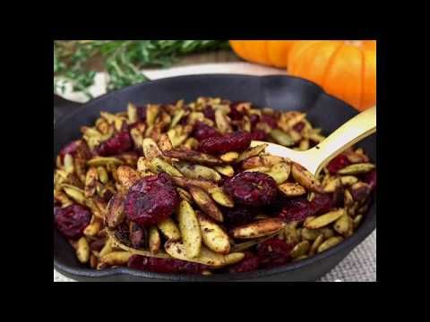 Toasted Pumpkin Seeds with Cranberries · Pint-sized Treasures