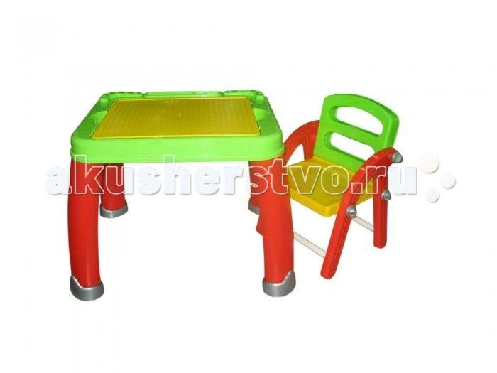 Полесье Набор дошкольника №2  Набор дошкольника Полесье №2 - состоит из столика и стульчика, сделанных из прочной пластмассы. По краю столика имеются подставки для карандашей и выемки для ручек и фломастеров. Под крышкой парты - ящик для бумаги и принадлежностей. Стульчик легкий, хорошо моется и разбирается.  Материал: высококачественная пластмасса.  Окраска исключительно сертифицированными пищевыми красителями. Игрушки сертифицированы в РБ, РФ и Европе.  Размер столика: 46х58 см. Высота от…