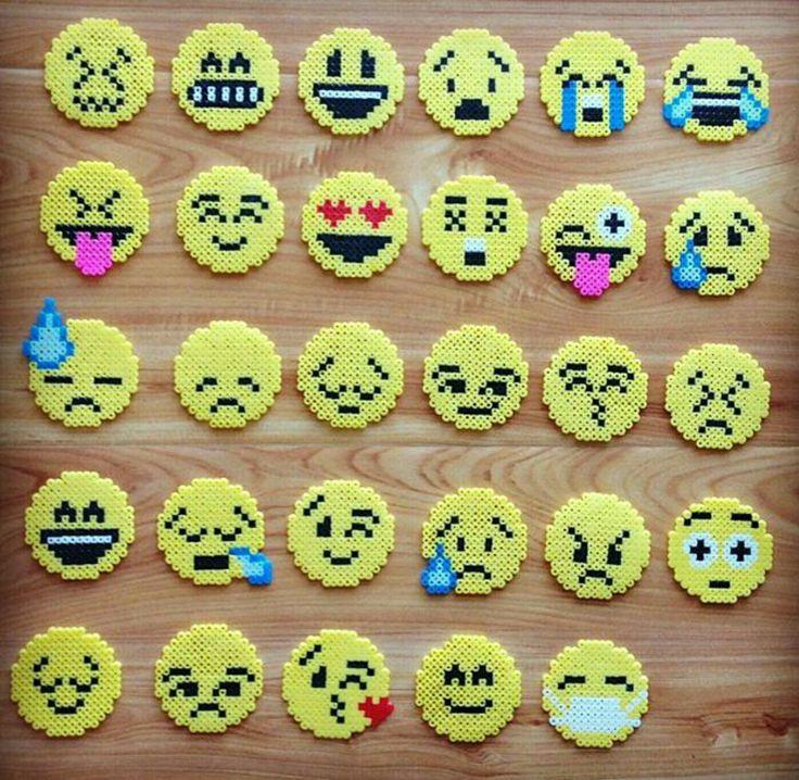 emoji faces perler beads perler beads perler beads. Black Bedroom Furniture Sets. Home Design Ideas