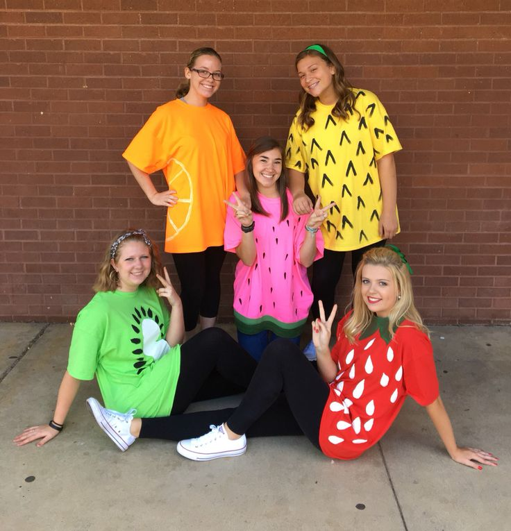 Fruit group day costume diy strawberry pineapple halloween spirit week watermelon kiwi orange (Water Melon Costume)