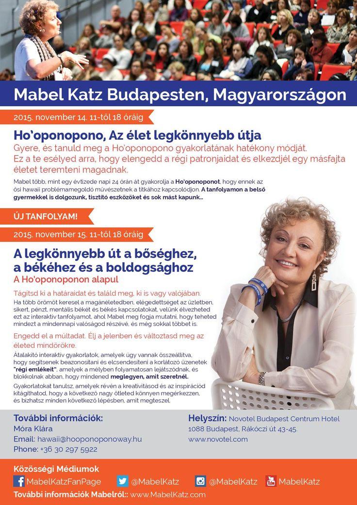 Mabel Katz kétnapos tanfolyama Budapesten 2014, november 14-15-én. Minden info itt ➡ bit.ly/1JiZgJE ¯`•.¸¸.Ƹ̴Ӂ̴Ʒ Köszönöm ♡ Szeretlek Ƹ̴Ӂ̴Ʒ ..•.¸¸•´¯ Ho'oponoponoway www.HooponoponoWa...