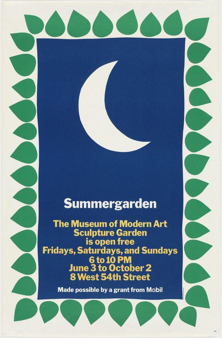Ivan Chermayeff, Thomas Geismar, Bruce Blackburn. Summergarden, The Museum of Modern Art Sculpture Garden Is Open Free Fridays, Saturdays, and Sundays. 1978