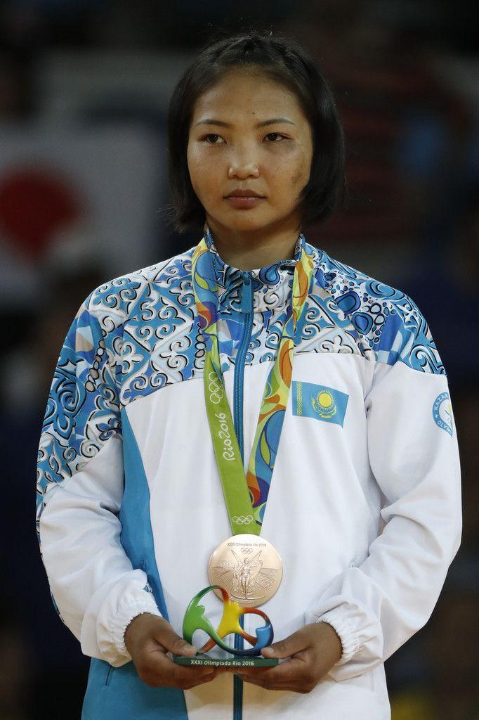 WOMEN'S JUDO:  Bronze medalist, Otgontsetseg Galbadrakh of Kazakhstan