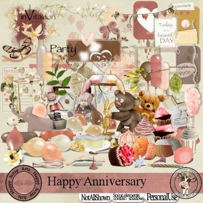 Happy Anniversary [Happy Scrap Arts] - $5.95 : Moo Two Designs, The Udder way to Scrap!