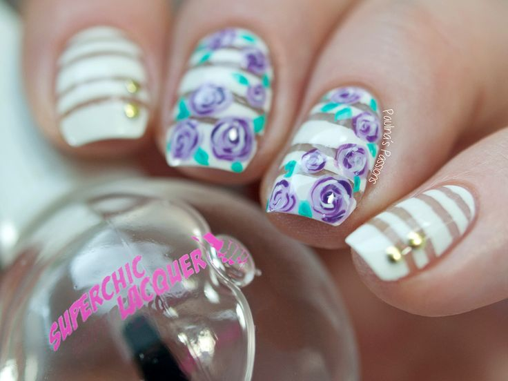 40 Great Nail Art Ideas – Violet Rose Nails | Paulina's Passions | Bloglovin'