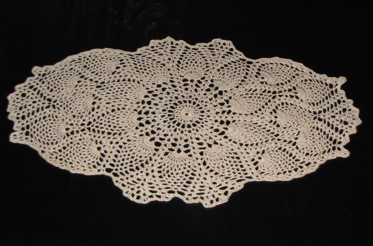 Oblong Doily Pattern Free Crocheted Star Afghan Size