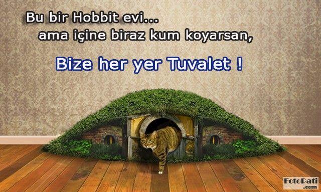 FotoPati.com Bize her yer tuvalet, Hobbit evi olsa da :) - Cat litterbox Hobbit House
