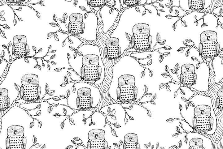 Aarrekid AW14 OWLS  design by Miia Kajaani, based on Owl print by Lotta-Liina Salonen
