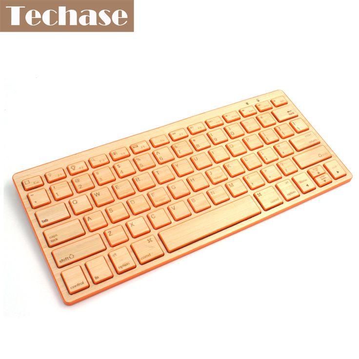 Wireless Keyboard Bluetooth Teclado Sem Fio Inalambrico Toetsenbord Ergonomic Keyboard Mini Wireless Bamboo 72 Key For Window 8  #Affiliate