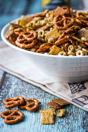Nuts and bolts mix made with homemade ranch and dill. You will have everyone at your party asking for the recipe. Full of flavor and very addicting!