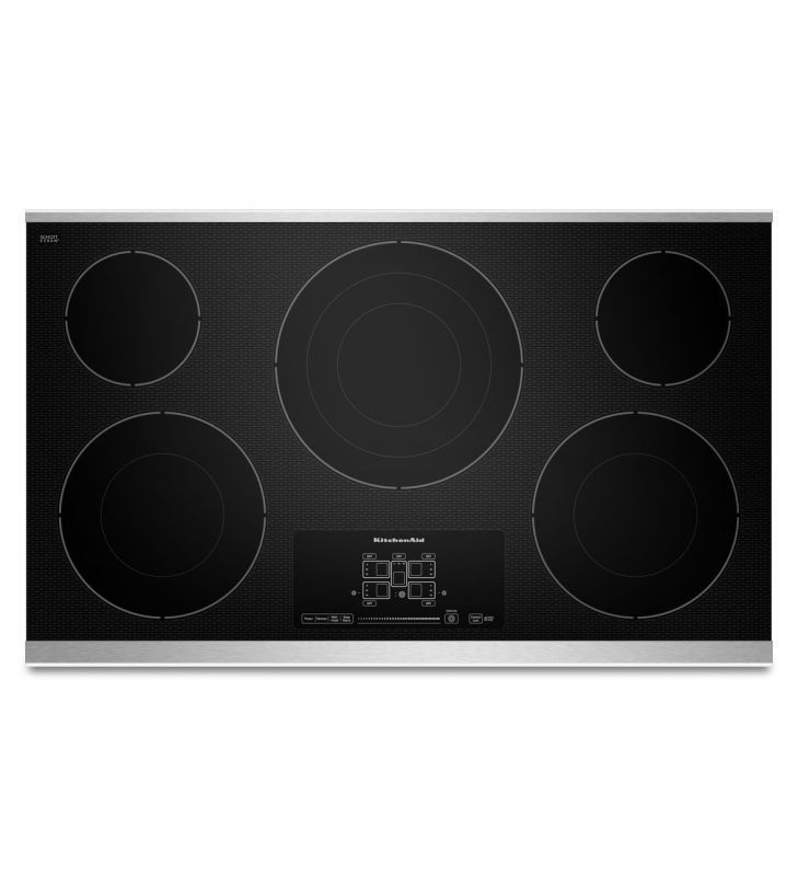 Kitchenaid Kecc667b 36 Inch Wide Electric Cooktop With Triple And Double Ring El Stainless Steel Cooktops Electric Cooktop Kitchen Aid Stainless Steel Cooktop