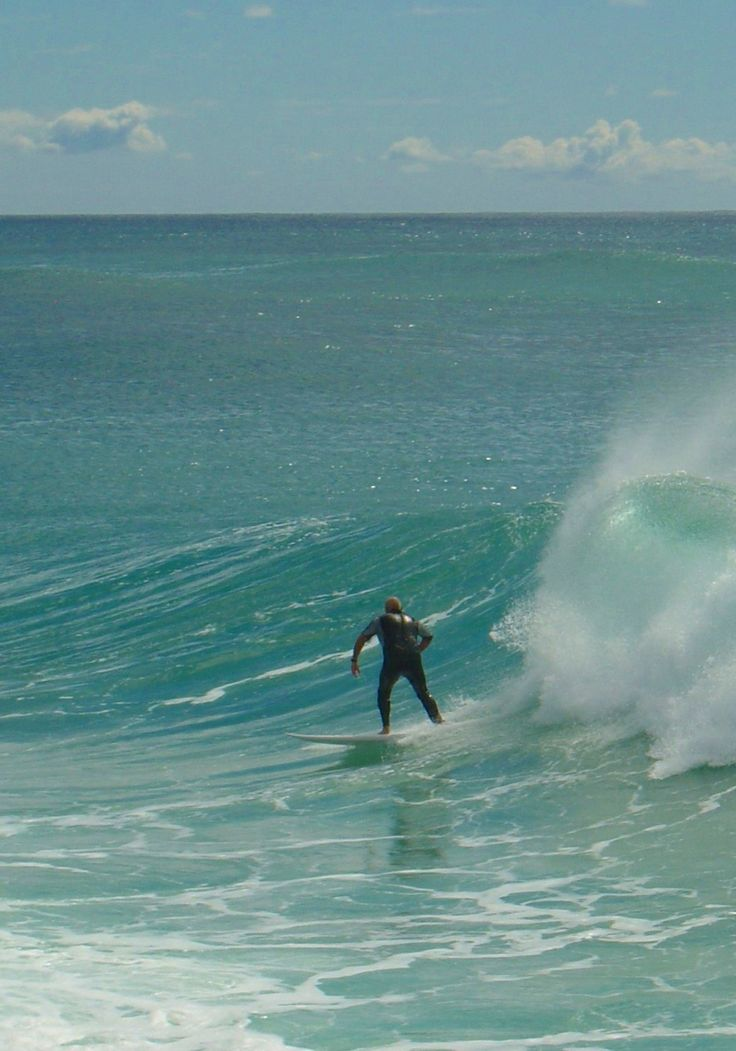 Surfer, North Head of Tweed River, Coolangatta, Gold Coast, Australia