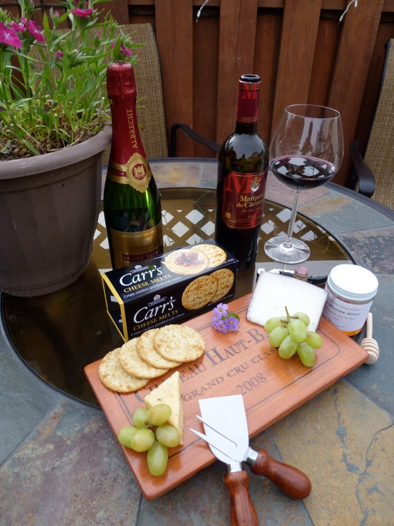 Wine Panel Cheese Boards by LaBellaVina on Etsy