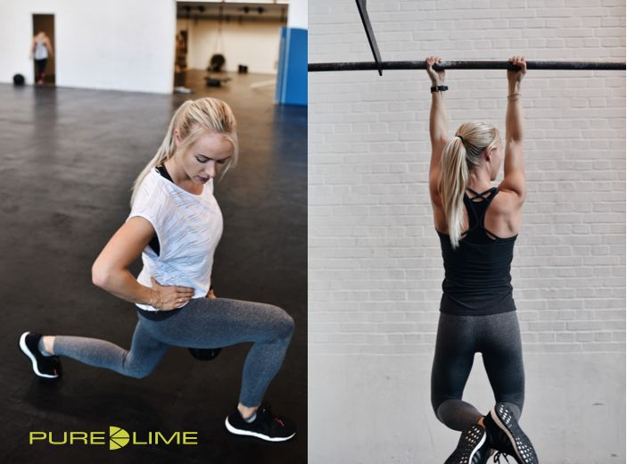 Stay fit with fitness expert Mette Lyngholm.... all dressed in Pure Lime...