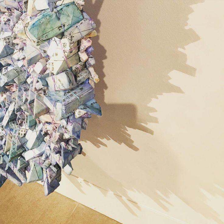 The wrappings create beautiful #shadows #kwangyoungchun #aggregations #eaf2015 #Edinburgh #dovecot @dovecot_gallery @kwangyoungchun