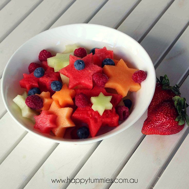 Day 5 of the 12 days of Christmas! Jazz up your fruit salad by cutting out shapes with cookie cutters!