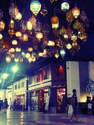 lanterns. paris van java, bandung.