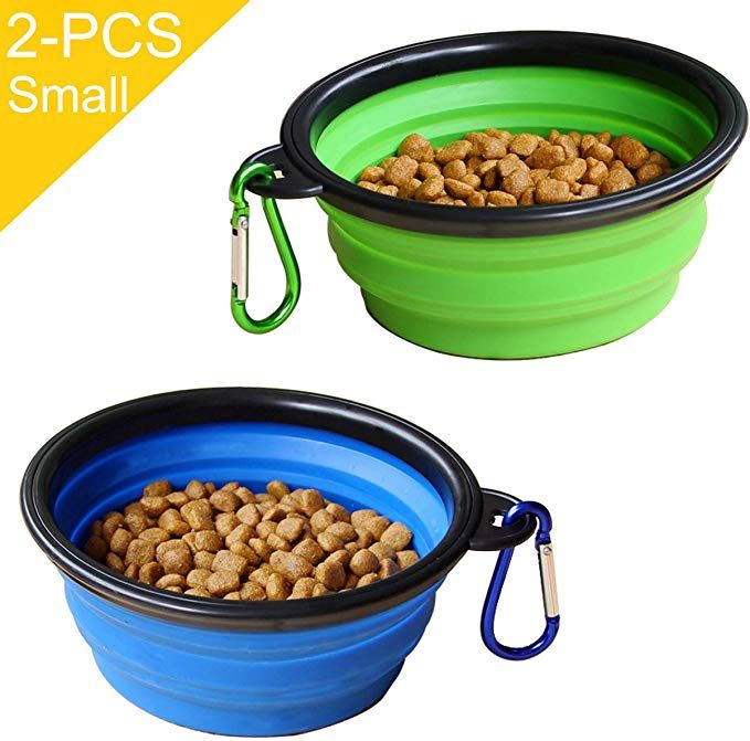 Staruby Collapsible Dog Bowl 2 Pack Foldable Pet Travel Bowl For Outdoor Camping Pet Food Water Bowl Review