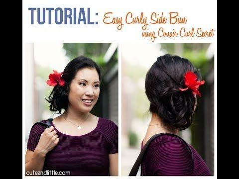 Curly Side Bun Tutorial using Conair Curl Secret #shop #cbias #ConairCurl