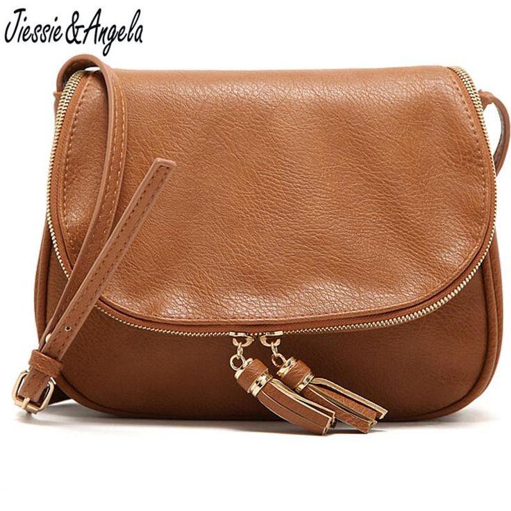 Tassel Women Bag Leather Handbags Cross Body Shoulder Bags Fashion Messenger Bag