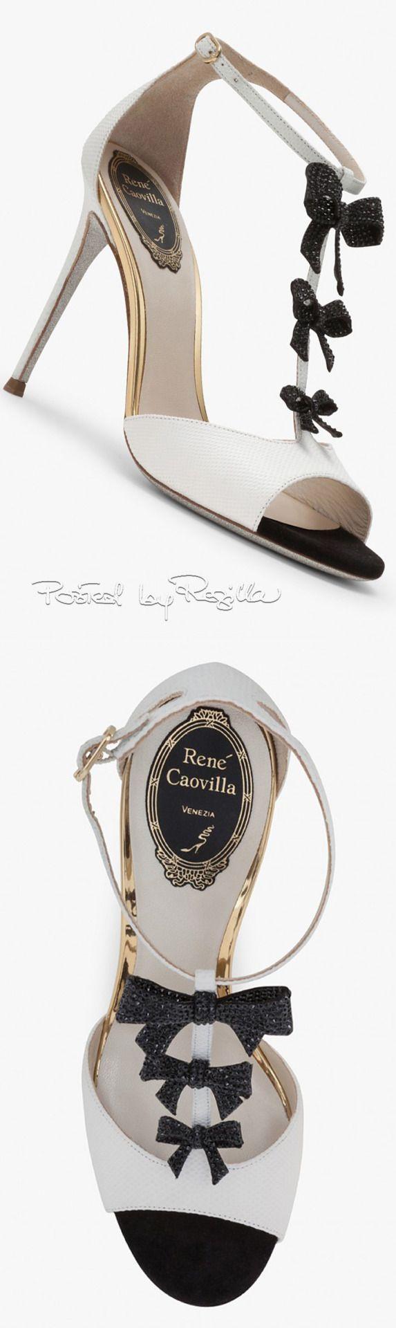 Quiero estas sandalias de René Caovilla, pero ya mismo... #zapatos #novia