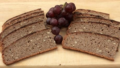 """""""Rye and sunflower sourdough bread recipe – Vollkornbrot:  Rye flour doesn't have the gluten content of wheat flour, which means that is ideal for people with a wheat allergy or intolerance. It also has the benefit that the dough does not require kneading which helps to develop the glutens in wheat flours.[..] You'll find that the bread keeps extremely well. In fact, its taste develops once it has been baked, so it's best to eat it the day after you bake it. """""""