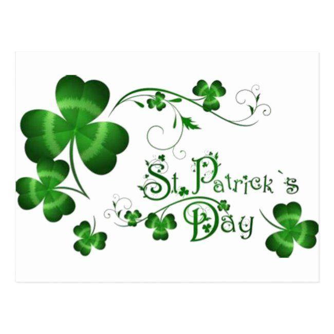 St Patricks Day Clover Postcard Zazzle Com St Patricks Day Pictures St Patricks Day Quotes St Patricks Day Wallpaper