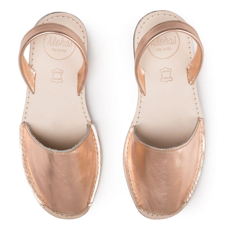 Rose Gold Leather | Alohas Sandals