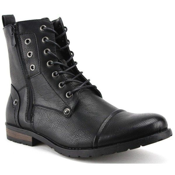 Bonafini Men's D-703 Tall Goth Punk Biker Zippered Boots ($35) ❤ liked on Polyvore featuring men's fashion, men's shoes, men's boots, mens biker style boots, extra wide mens boots, mens zip shoes, mens biker boots and mens gothic shoes