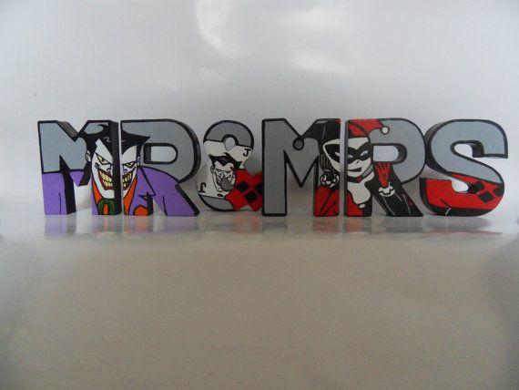 Comic Book Wedding Hand Painted Mr & Mrs by DimensionalArtUK