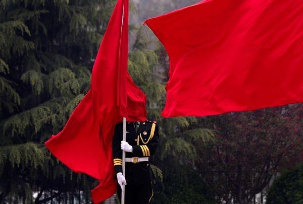 Rosso militare fotografia di Andy Wong, Pool/AP