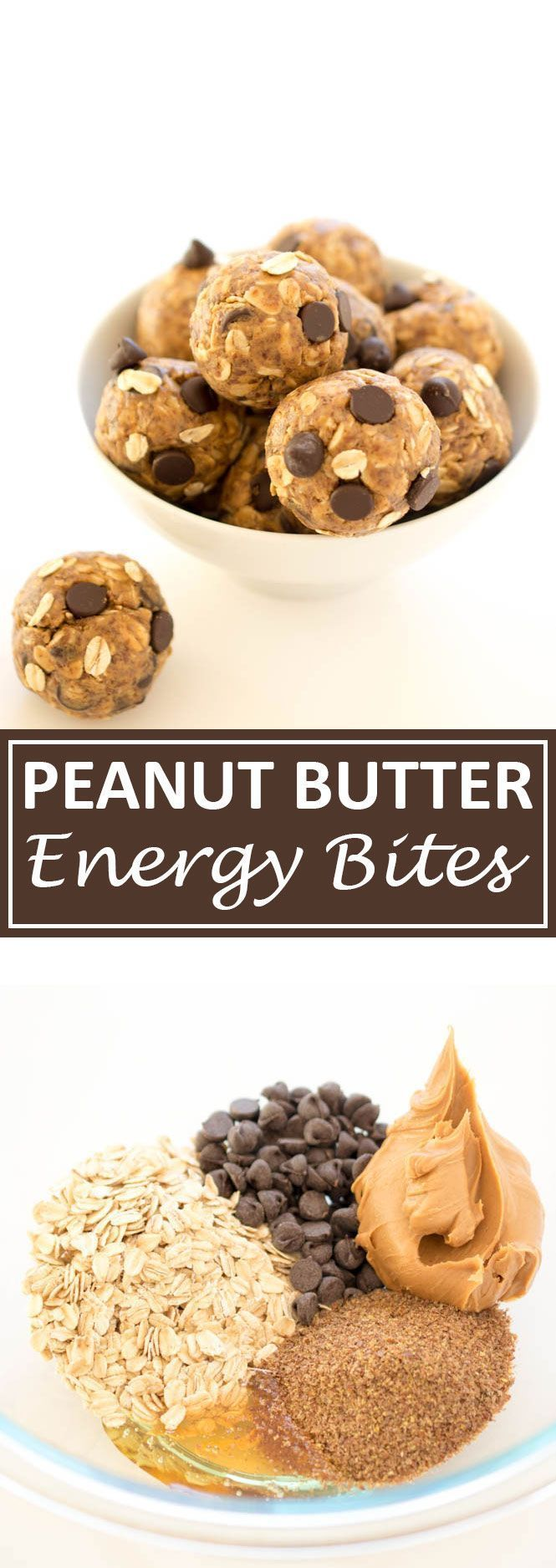 No Bake 5 Ingredient Peanut Butter Energy Bites