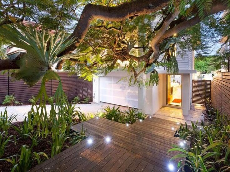 Photo Of A Modern Garden Design Using Timber With Deck U0026 Decorative  Lighting   Gardens Photo Browse Hundreds Of Images Of Modern Gardens U0026  Photos Of Timber ...