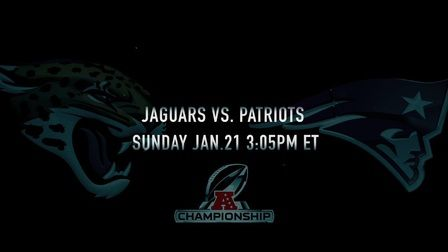 Playoff Movie Trailer for the AFC Championship between the Jaguars and Patriots/