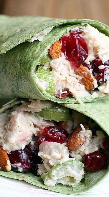 Turkey Cranberry Almond Wrap
