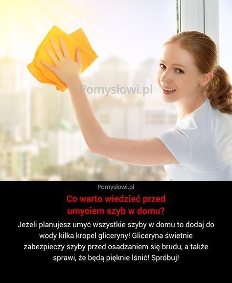 Jeżeli planujesz umyć wszystkie szyby w domu to dodaj do wody kilka kropel gliceryny! Gliceryna świetnie zabezpieczy szyby przed osadzaniem ...