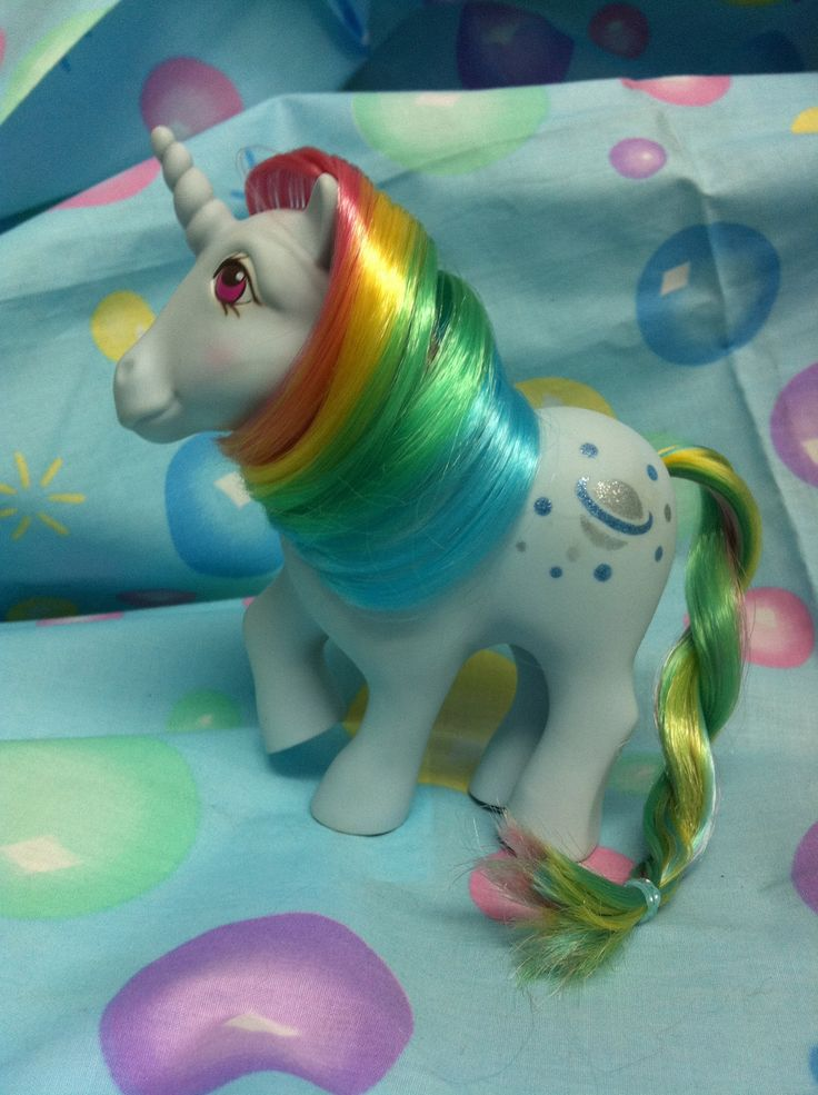 Vintage My Little Pony Rainbow Moonstone.... For E.  I prefer the classic my little ponies to the ones they sell now.