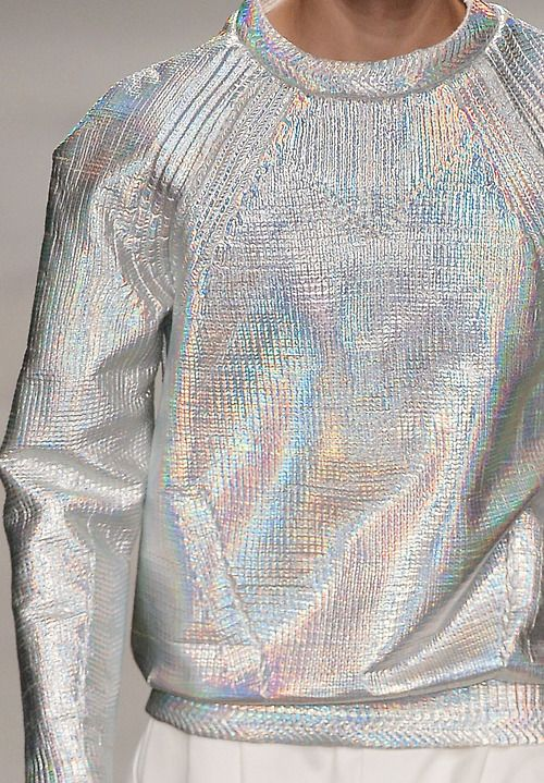 Iridescent silver sweatshirt by Juun.J