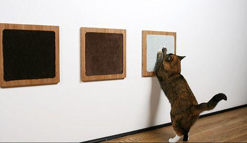 unobtrusive scratching post: Galleries Ideas, Cat Furniture, Cat Habitats, Cat Scratch Posts, Cat Squares, Cat Scratcher, Cat Products, Catio Ideas, Cat Toys