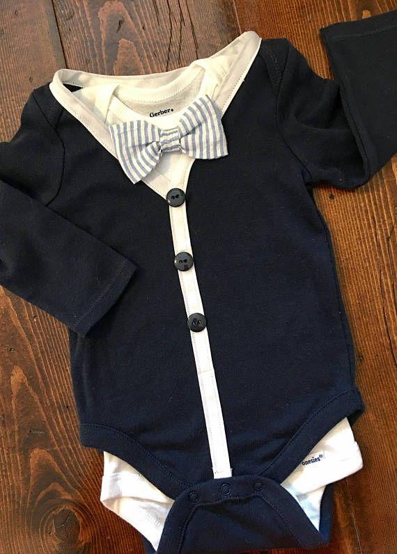 Body de bebé chaqueta y mono de Bowtie