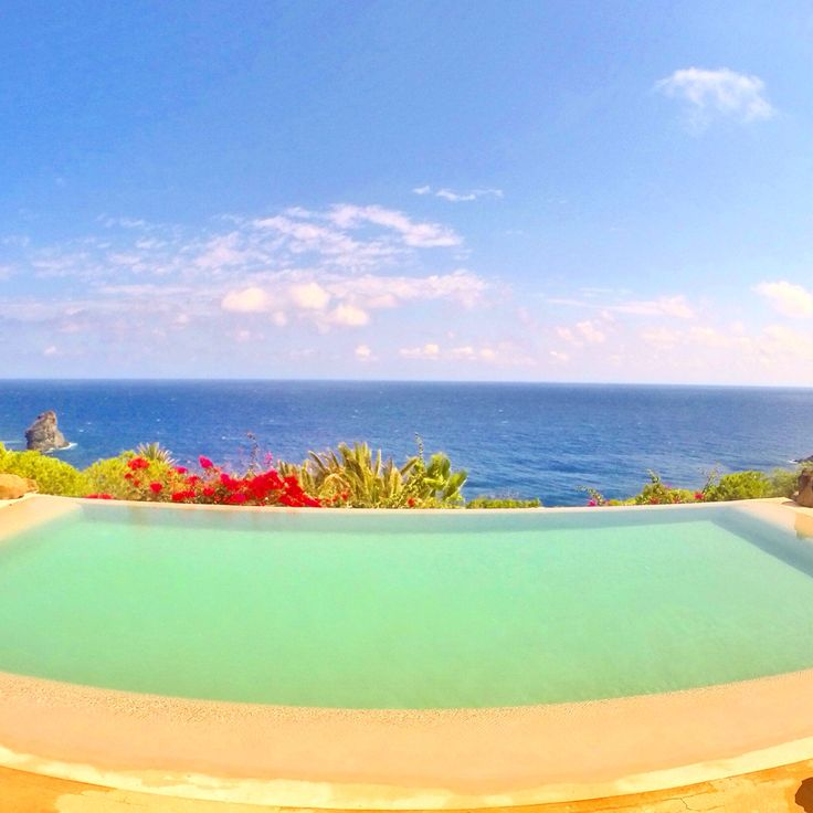Infinity pool at Club Levante Hotel in Pantelleria
